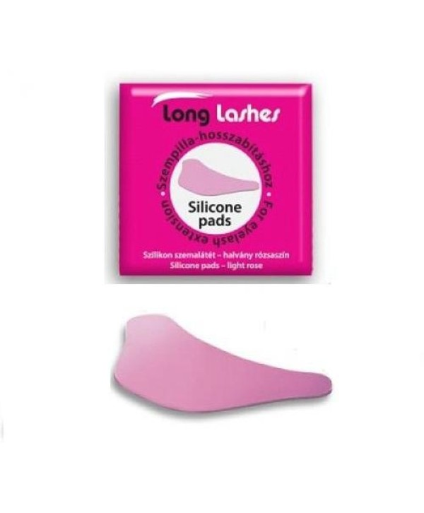 Long Lashes Sillicone Eyepads Pink Set