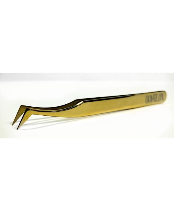 """Penseta Extensii  Gene """"L"""" Bonilux Gold"""
