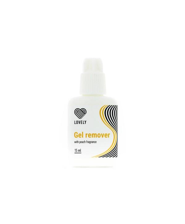 Lovely Gel Remover pentru Extensii Gene  cu aroma de Piersici 15 ml