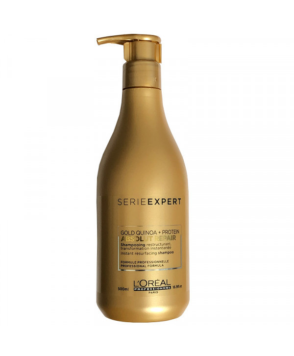 L'Oreal Professionnel Sampon Reparator pentru Par Deteriorat - L'Oreal Professionnel Absolut Repair Gold Quinoa + Protein Shampoo, 500ml