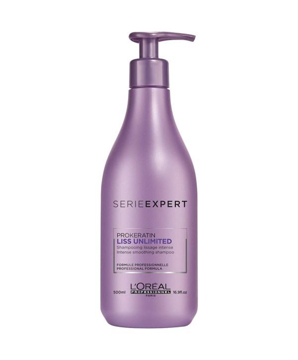 L'Oreal Professionnel Sampon pentru Par Cret - L'Oreal Professionnel Liss Unlimited Shampoo 500ml.