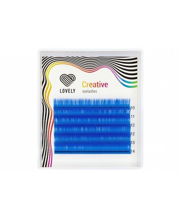 Lovely Extensii Gene Albastru Azur 6 Linii Mix 7-11mm